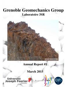 Grenoble Geomechanics Group Laboratoire 3SR Annual Report #1